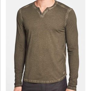 Kenneth Cole New York Washed Cotton & Linen Henley